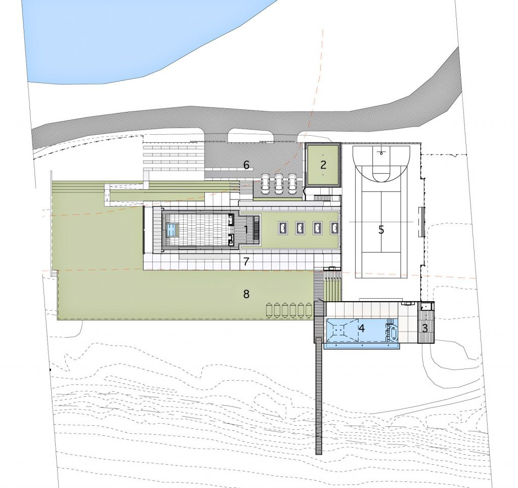 Site Plan - Hamptons Beachfront - 7 Fairfield Pond Ln, Sagaponack, NY, USA