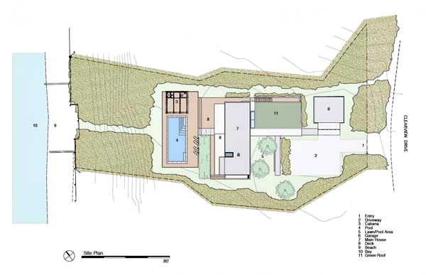 Site Plan - Peconic Bay Residence - Clearview Dr, Sag Harbor, NY, USA