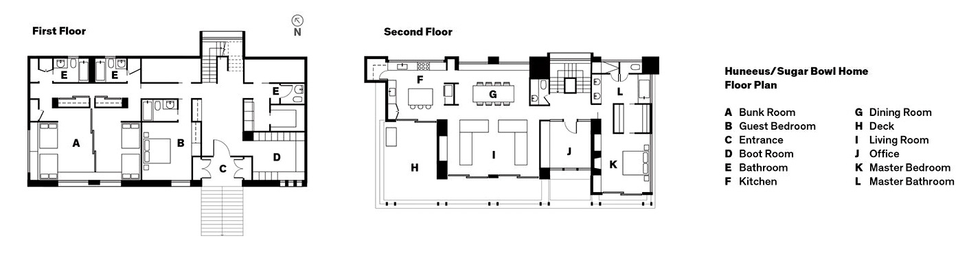Floor Plan - Huneeus House Luxury Residence - Sugar Bowl, Norden, CA, USA