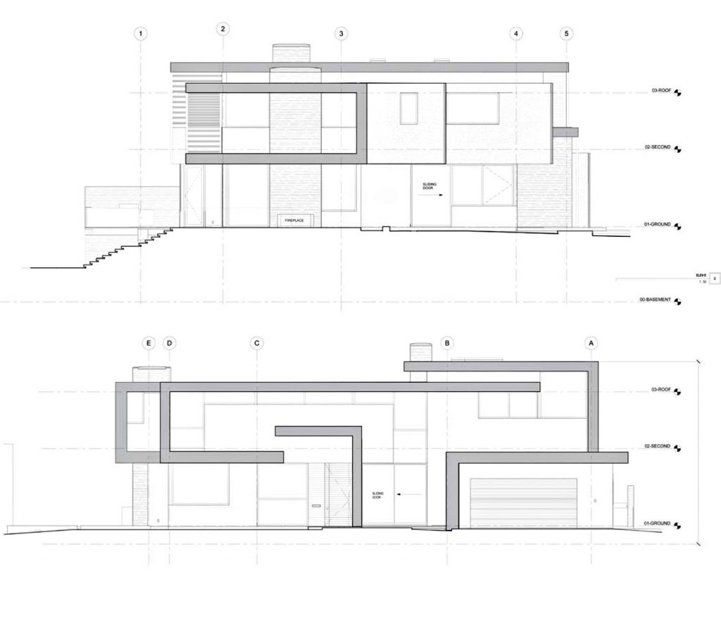 Elevations - Stone Luxury Residence - Forest Hill, Toronto, ON, Canada