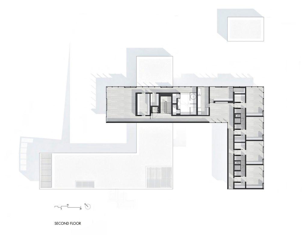 Second Floor Plan - Oz House Luxury Residence - Ridge View Dr, Atherton, CA, USA