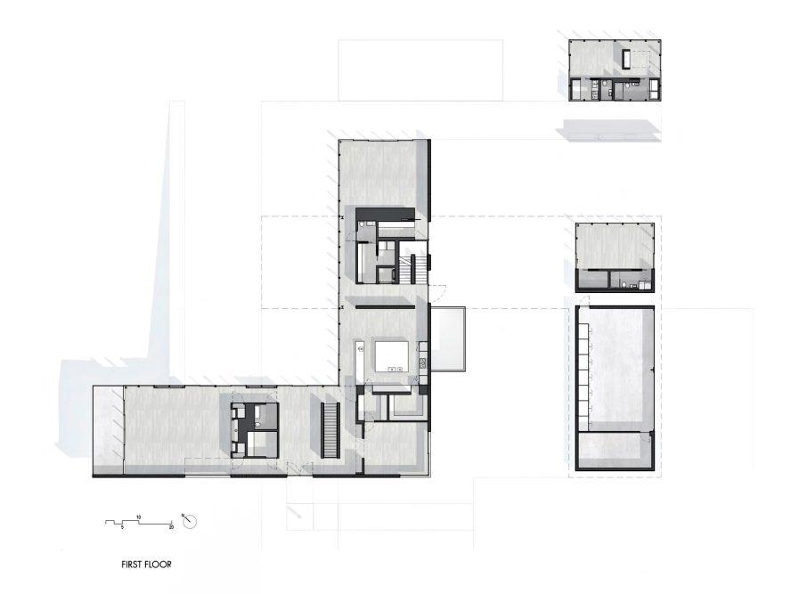 First Floor Plan - Oz House Luxury Residence - Ridge View Dr, Atherton, CA, USA