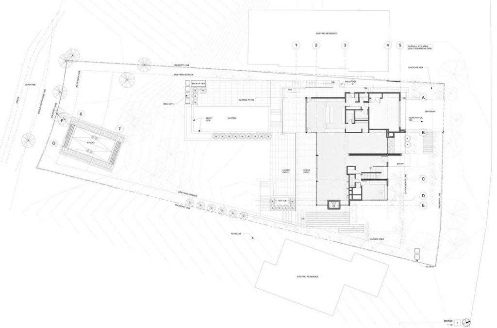 Site Plan - Stone Luxury Residence - Forest Hill, Toronto, ON, Canada