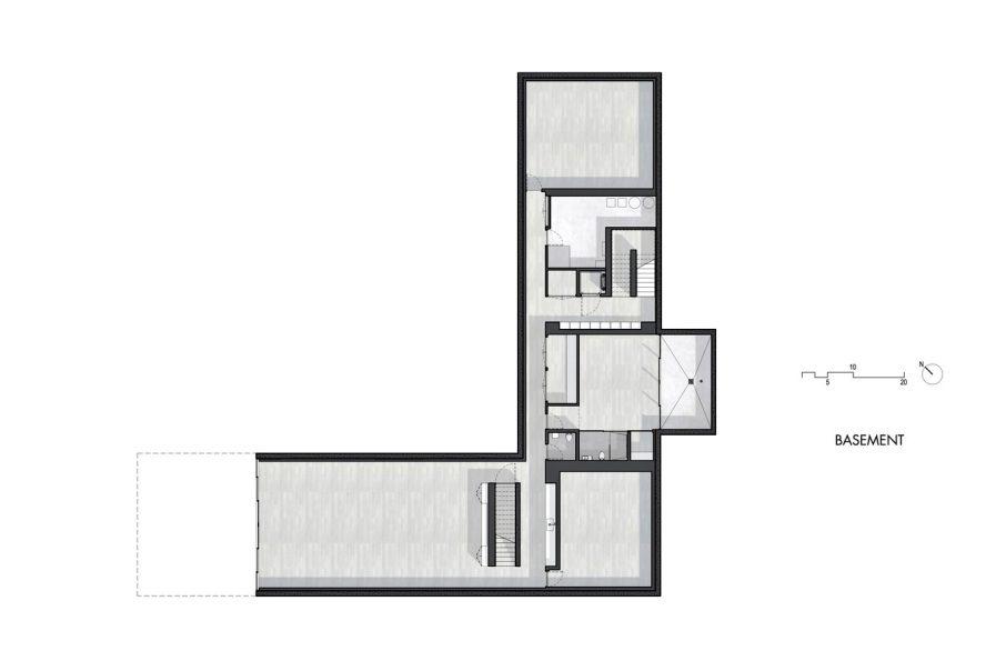 Basement Floor Plan - Oz House Luxury Residence - Ridge View Dr, Atherton, CA, USA