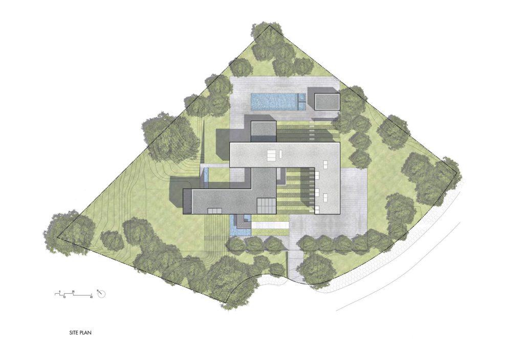 Site Plan - Oz House Luxury Residence - Ridge View Dr, Atherton, CA, USA