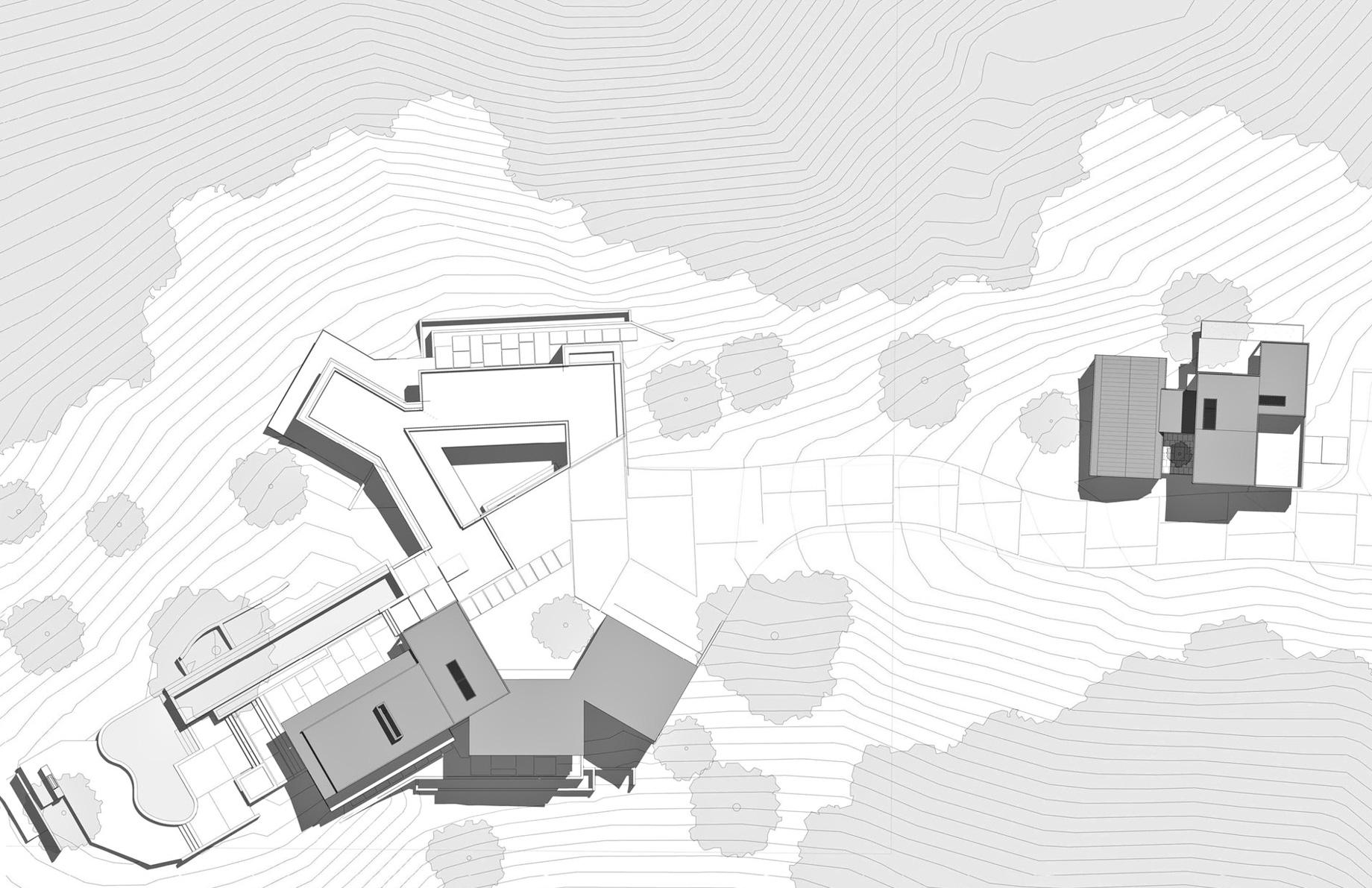 Site Plan – Oak Pass Residence – 9601 Oak Pass Rd, Beverly Hills, CA, USA