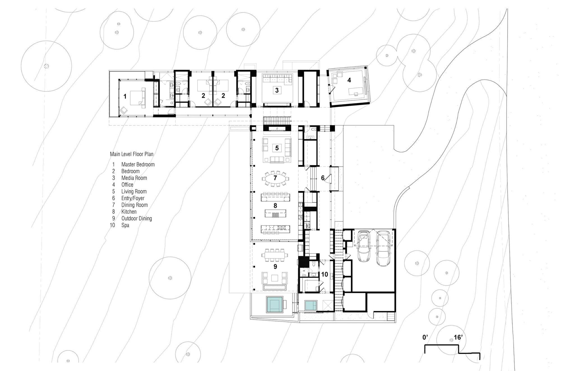 Main Level Floor Plan - Martis Camp 479 Luxury Residence - Truckee, CA, USA