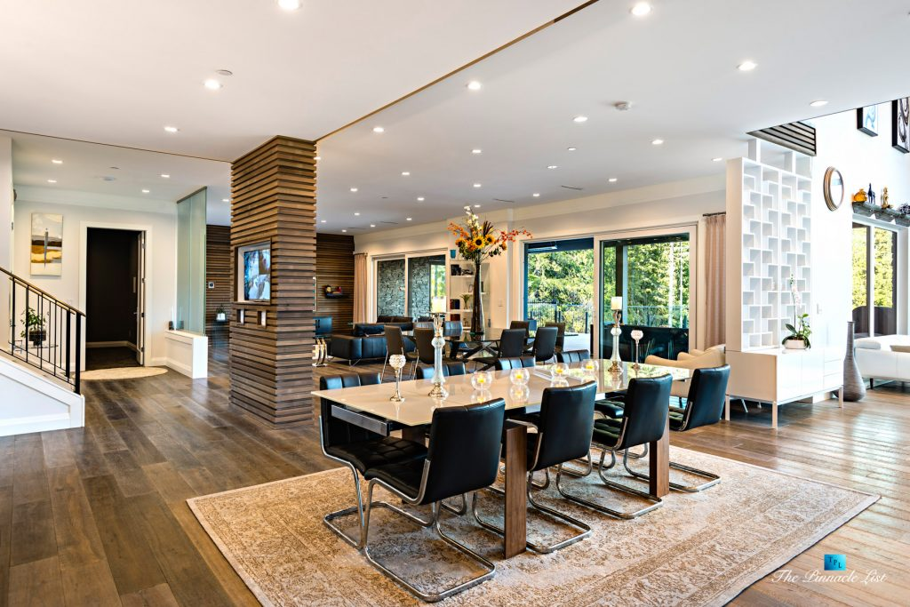 1083 Uplands Dr, Anmore, BC, Canada - Dining and Family Room - Luxury Real Estate - Greater Vancouver West Coast Modern Home
