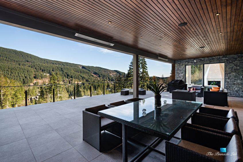 1083 Uplands Dr, Anmore, BC, Canada - Private Outdoor Covered Deck - Luxury Real Estate - Greater Vancouver West Coast Modern Home