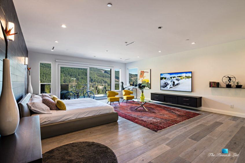 1083 Uplands Dr, Anmore, BC, Canada - Mountain View Master Bedroom - Luxury Real Estate - Greater Vancouver West Coast Modern Home