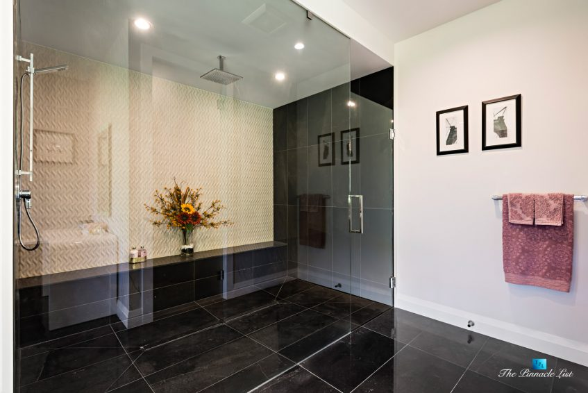 1083 Uplands Dr, Anmore, BC, Canada - Master Bathroom Walk In Shower - Luxury Real Estate - Greater Vancouver West Coast Modern Home