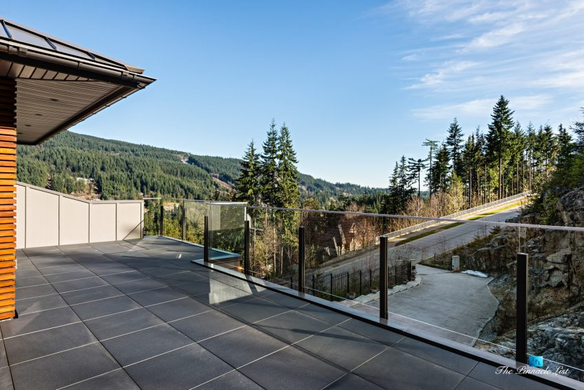 1083 Uplands Dr, Anmore, BC, Canada - Private Outdoor Mountain View Deck - Luxury Real Estate - Greater Vancouver West Coast Modern Home