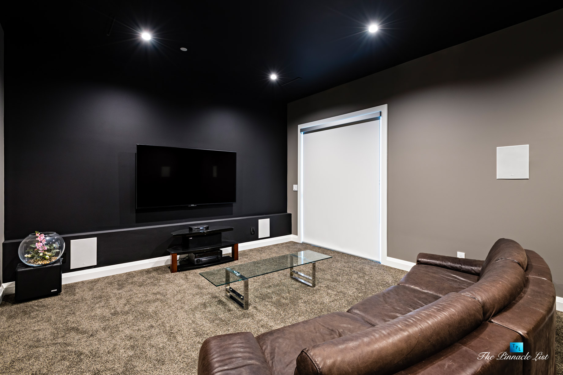 1083 Uplands Dr, Anmore, BC, Canada - Private Theatre Room - Luxury Real Estate - Greater Vancouver West Coast Modern Home