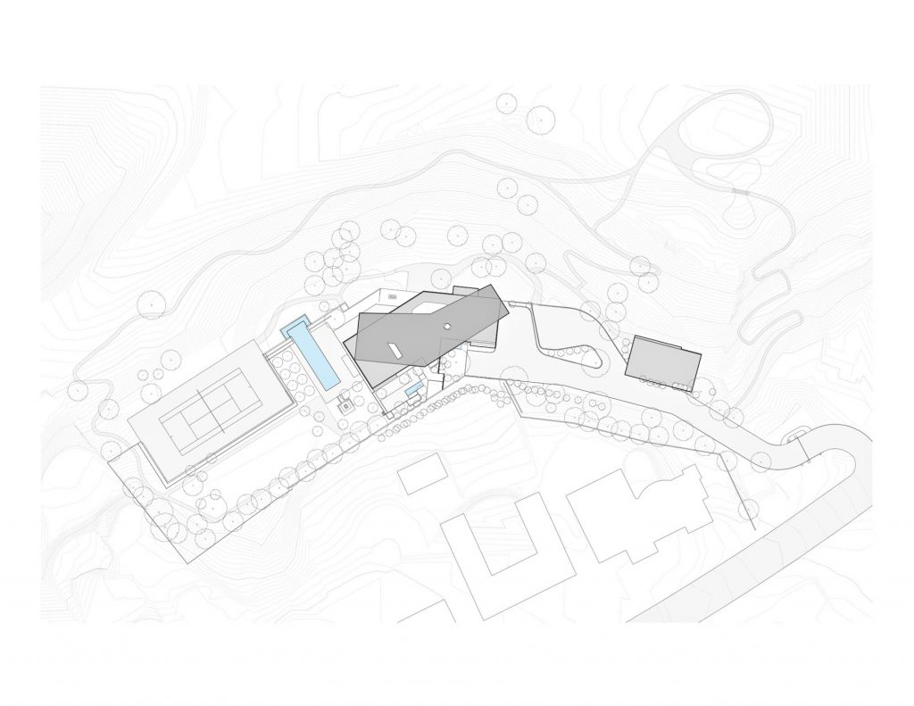 Site Plan - Tree Top Residence - North Barrington Ave, Los Angeles, CA, USA