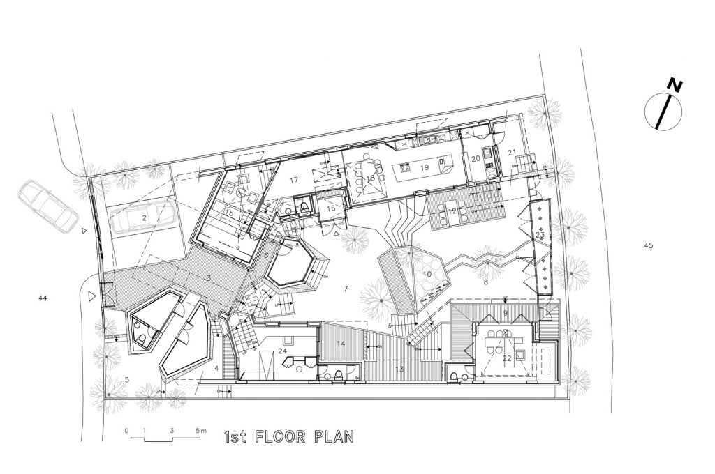 First Floor Plan - Ga On Jai Residence - Seongnam, Gyeonggi, South Korea
