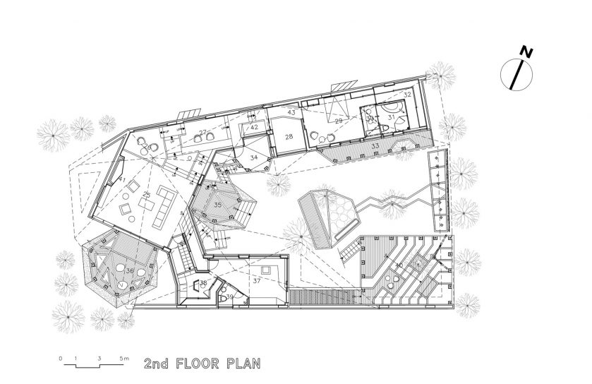 Second Floor Plan - Ga On Jai Residence - Seongnam, Gyeonggi, South Korea