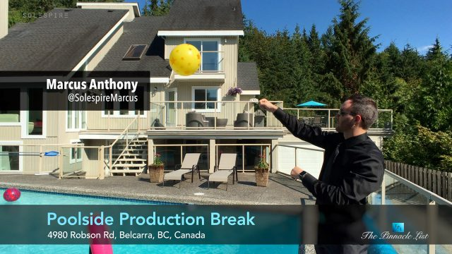 Poolside Production Break - Marcus Anthony - 4980 Robson Rd, Belcarra, BC, Canada