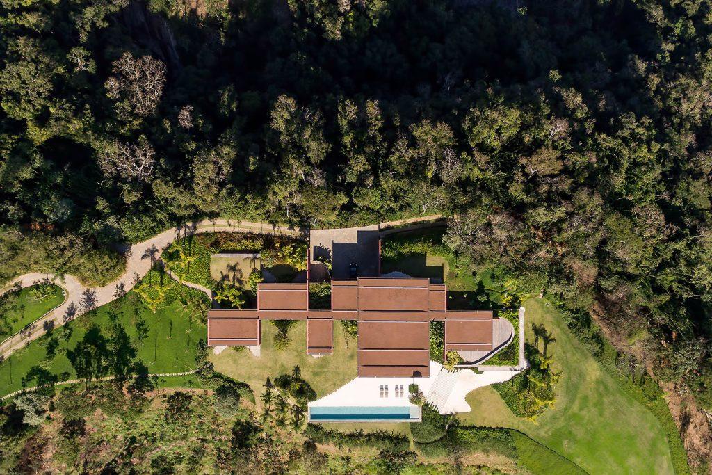 Aerial - Casa Terra Residence - Itaipava, Petrópolis, Rio de Janeiro, Brazil