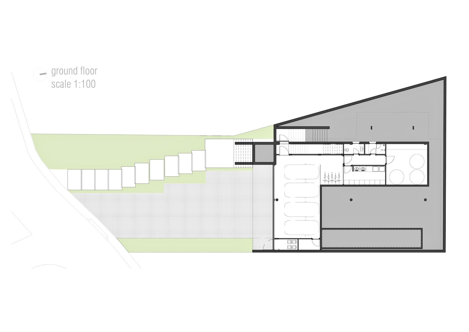 Ground Floor Plan - Casa Bravos Luxury Residence - Itajaí, Santa Catarina, Brazil