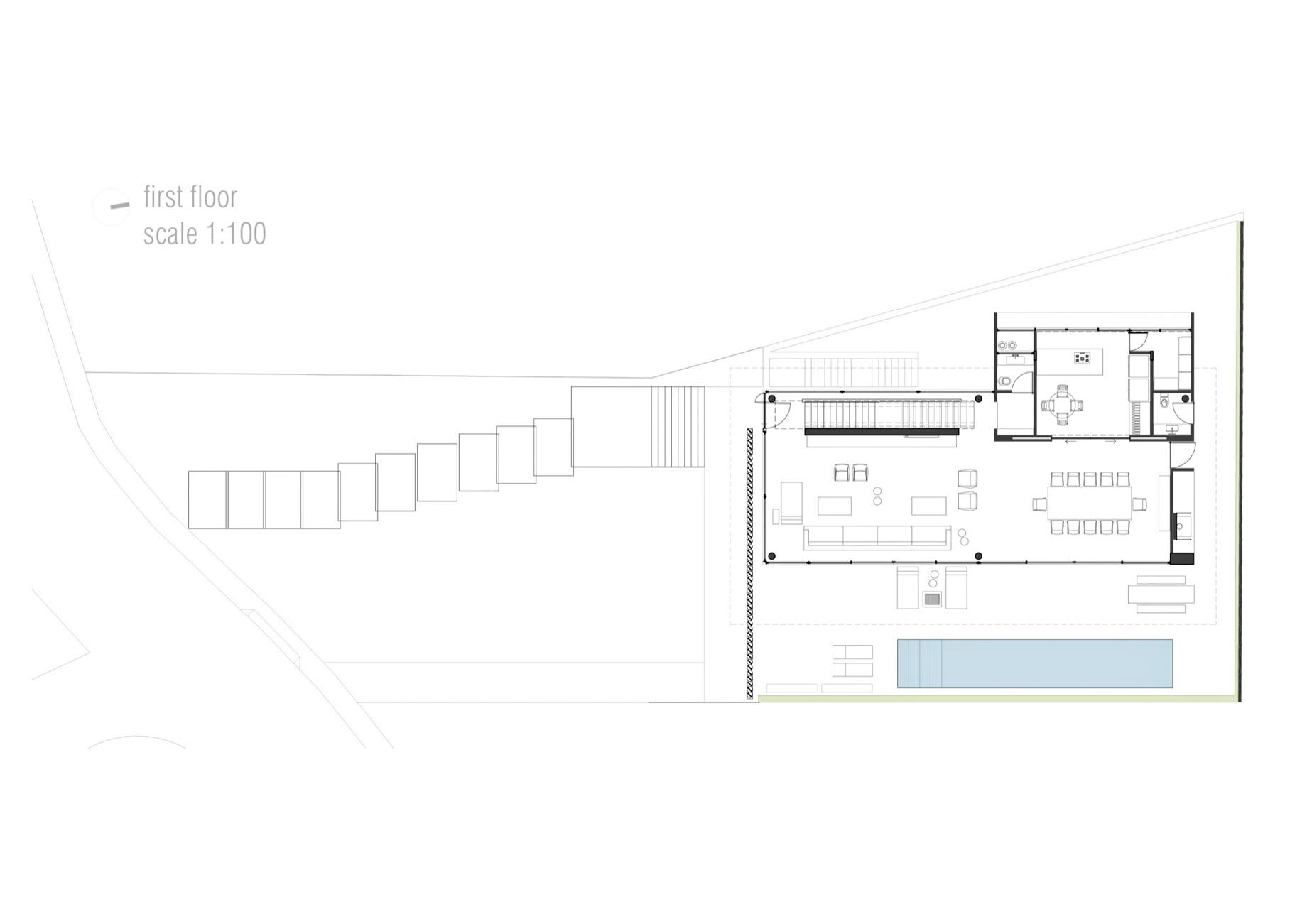 First Floor Plan – Casa Bravos Luxury Residence – Itajaí, Santa Catarina, Brazil