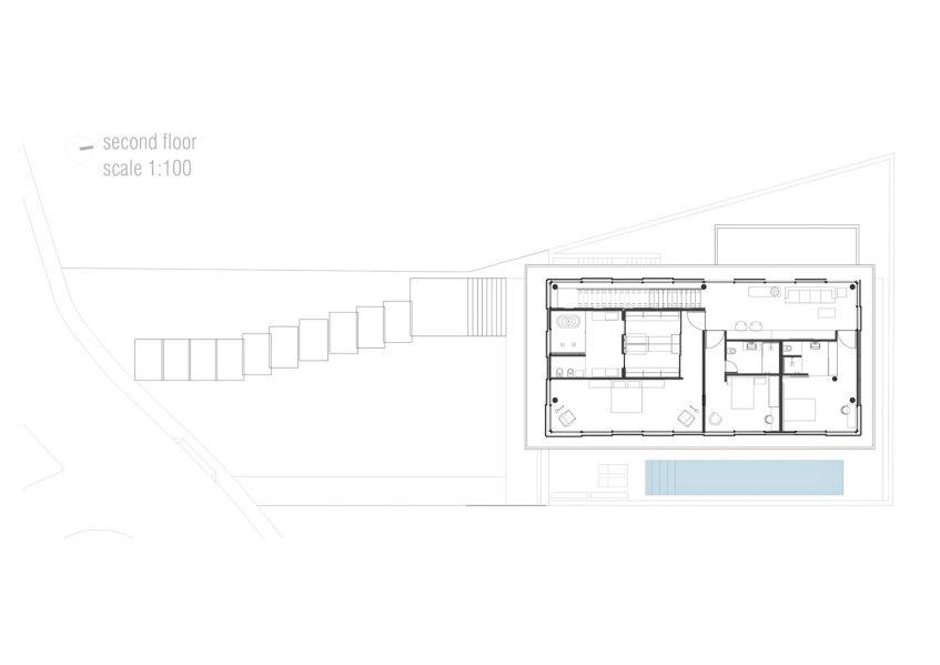 Second Floor Plan - Casa Bravos Luxury Residence - Itajaí, Santa Catarina, Brazil