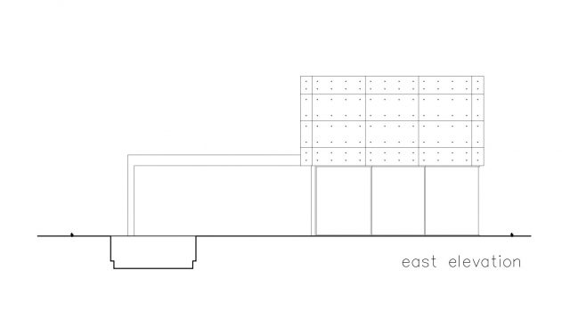 East Elevation - S House Luxury Residence - Herzliya, Tel Aviv, Israel