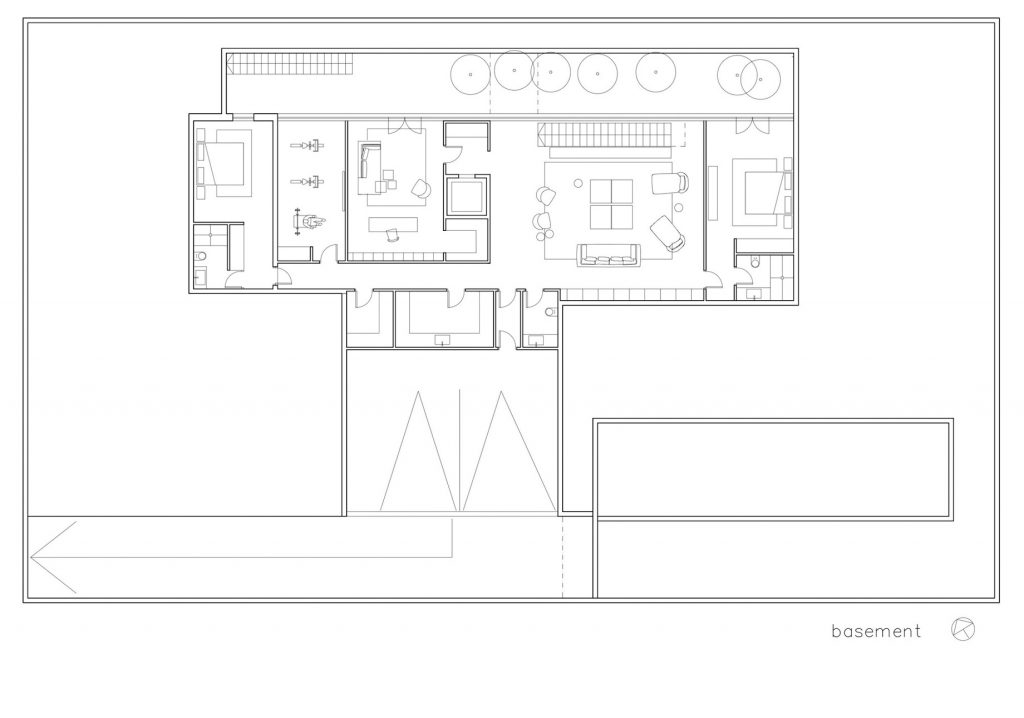 Basement Floor Plan - S House Luxury Residence - Herzliya, Tel Aviv, Israel