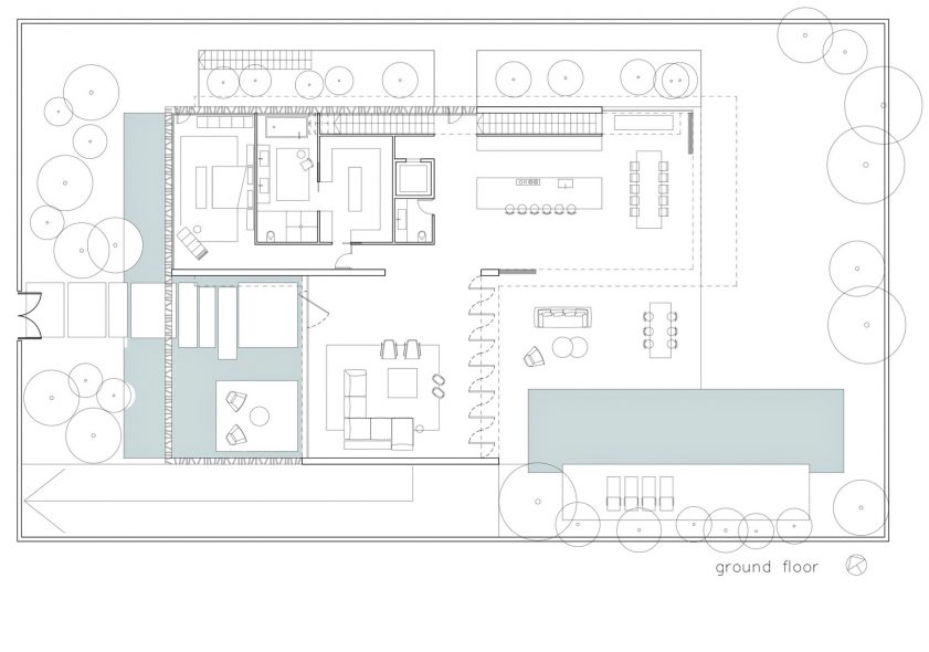 Ground Floor Plan - S House Luxury Residence - Herzliya, Tel Aviv, Israel