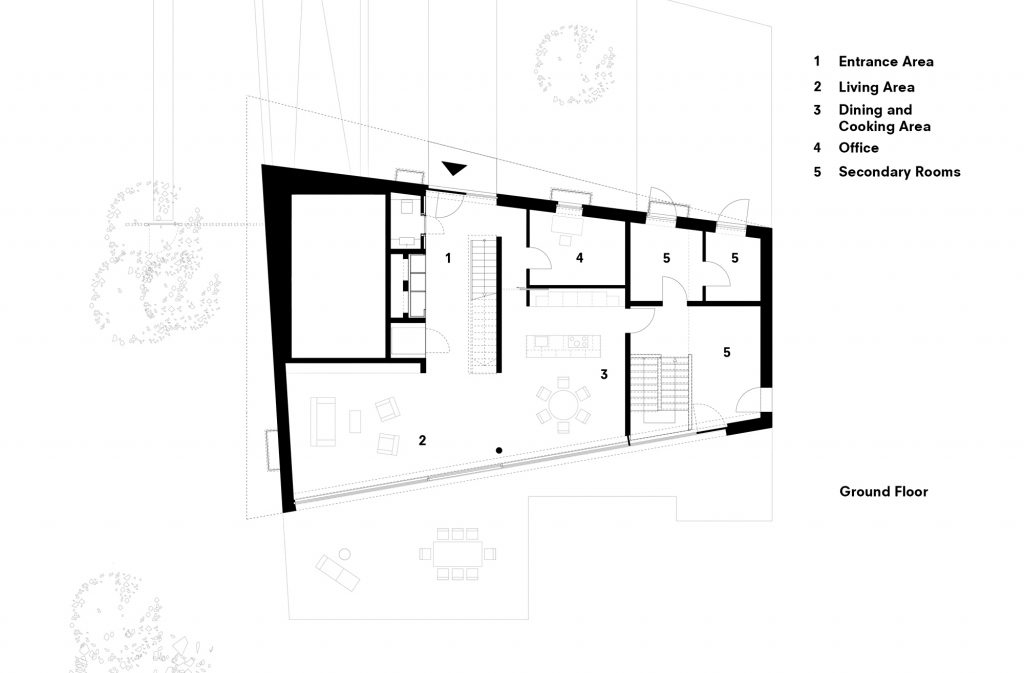 Ground Floor Plan - Koln House Luxury Residence - Hahnwald, Cologne, Germany