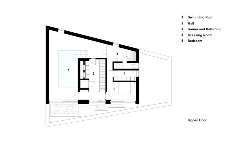Upper Floor Plan - Koln House Luxury Residence - Hahnwald, Cologne, Germany