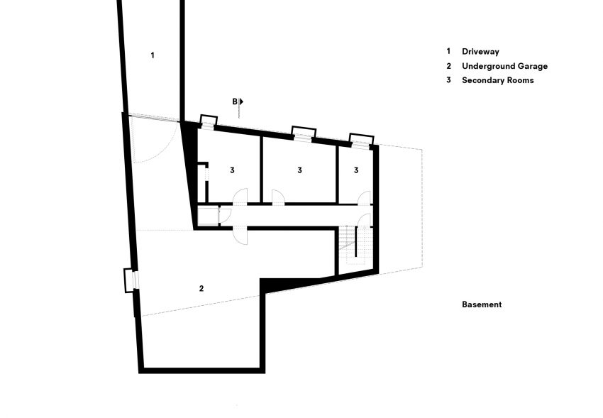 Lower Floor Plan - Koln House Luxury Residence - Hahnwald, Cologne, Germany