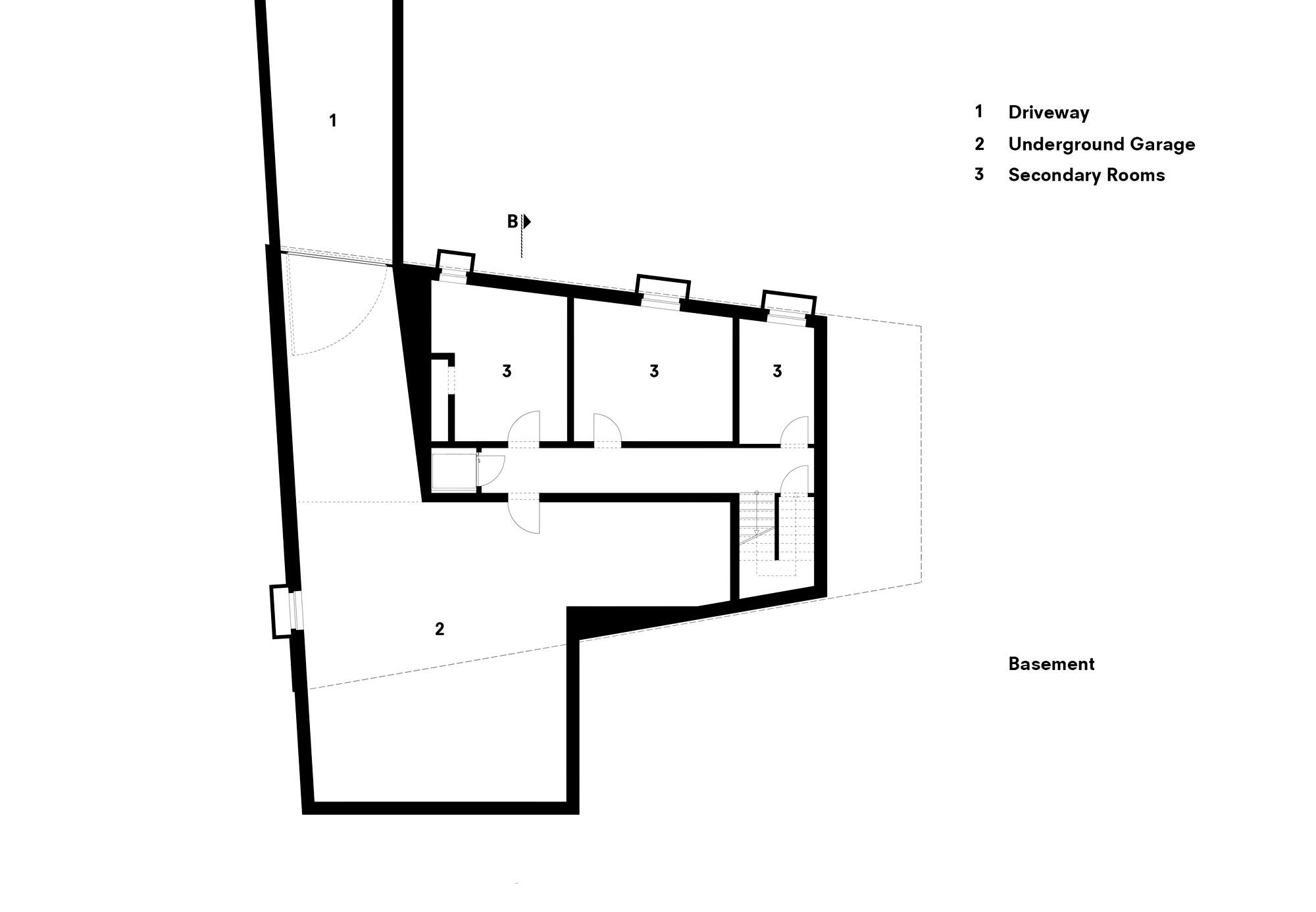 Lower Floor Plan - Koln House Luxury Residence - Hahnwald, Cologne, Germany