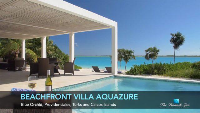 Beachfront Villa Aquazure - Blue Orchid, Providenciales, Turks and Caicos Islands - Luxury Real Estate - Video