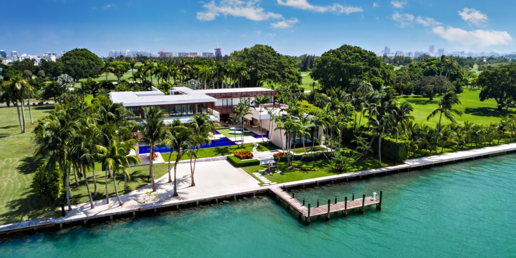 Pano - 3 Indian Creek Island Luxury Estate - Miami Beach, FL, USA