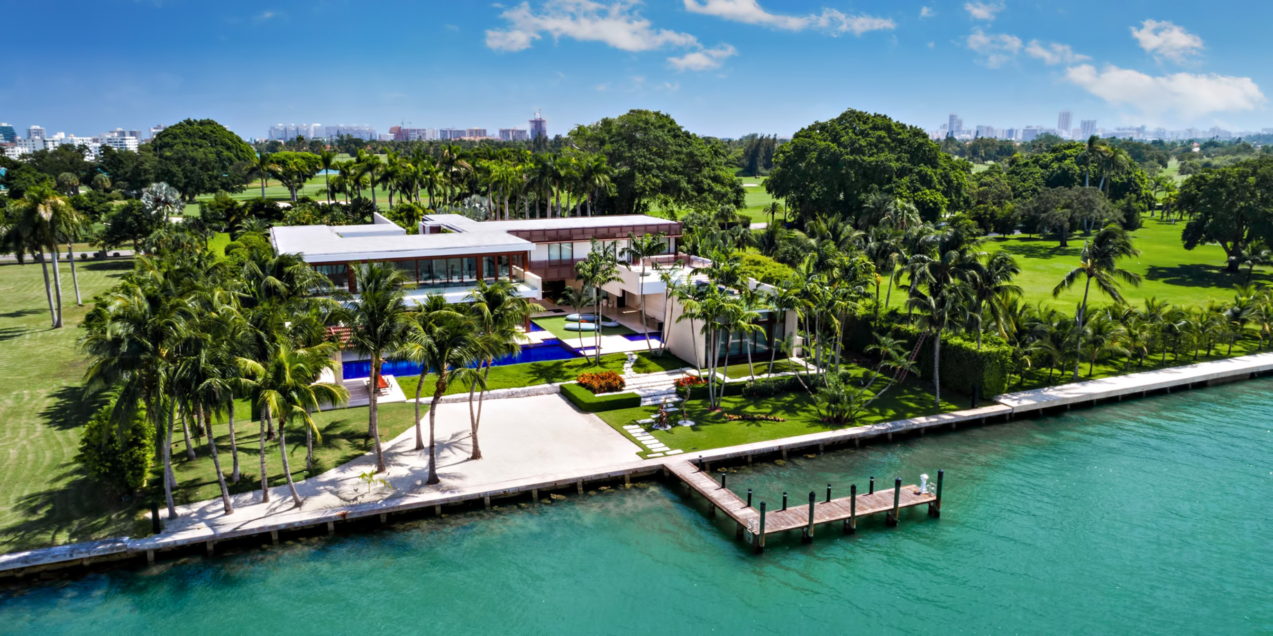 Pano - 3 Indian Creek Island Luxury Estate - Miami Beach, FL, USA