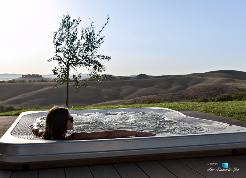 Podere Paníco Estate - Monteroni d'Arbia, Tuscany, Italy - Property Hot Tub View - Luxury Real Estate - Tuscan Villa