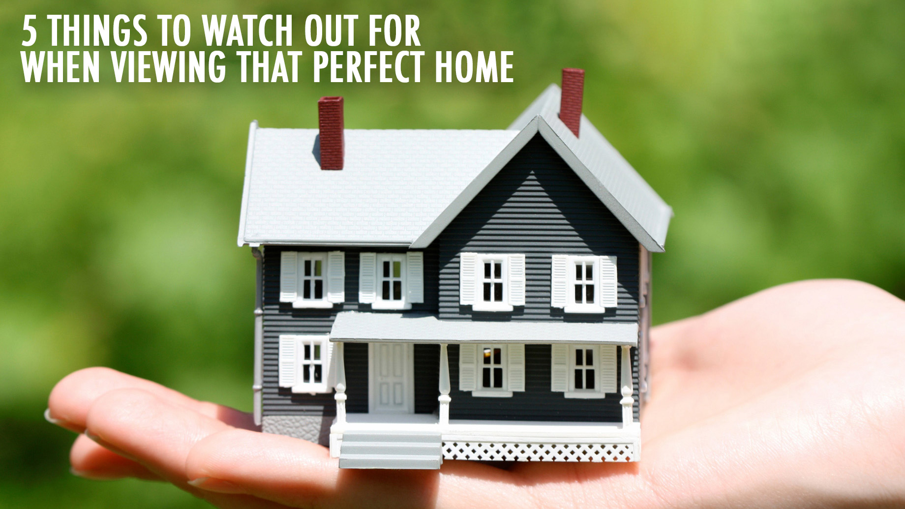 Real Estate Tips - 5 Things to Watch Out for When Viewing that Perfect Home