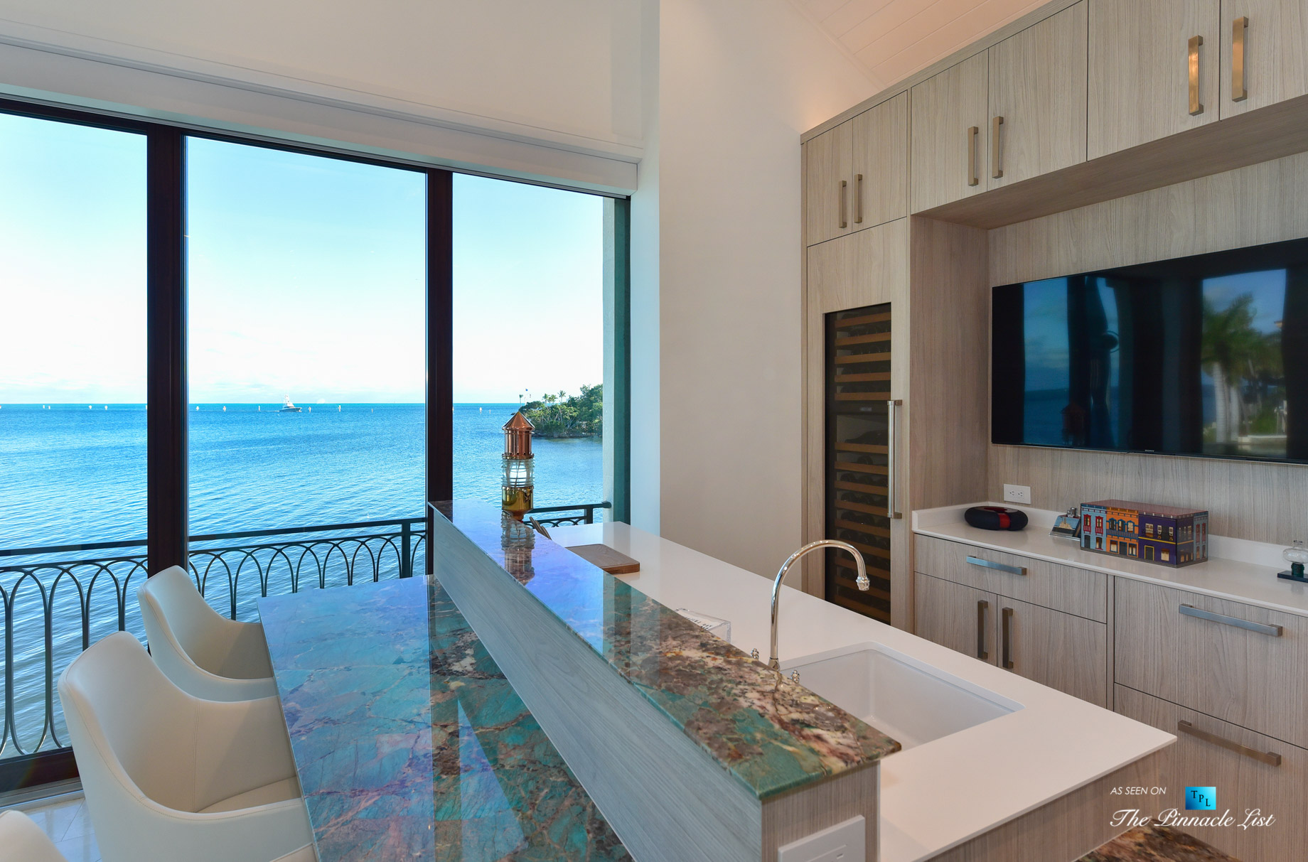 103 Andros Rd, Key Largo, FL, USA - Oceanview Kitchen - Luxury Real Estate - Ocean Reef Club Home