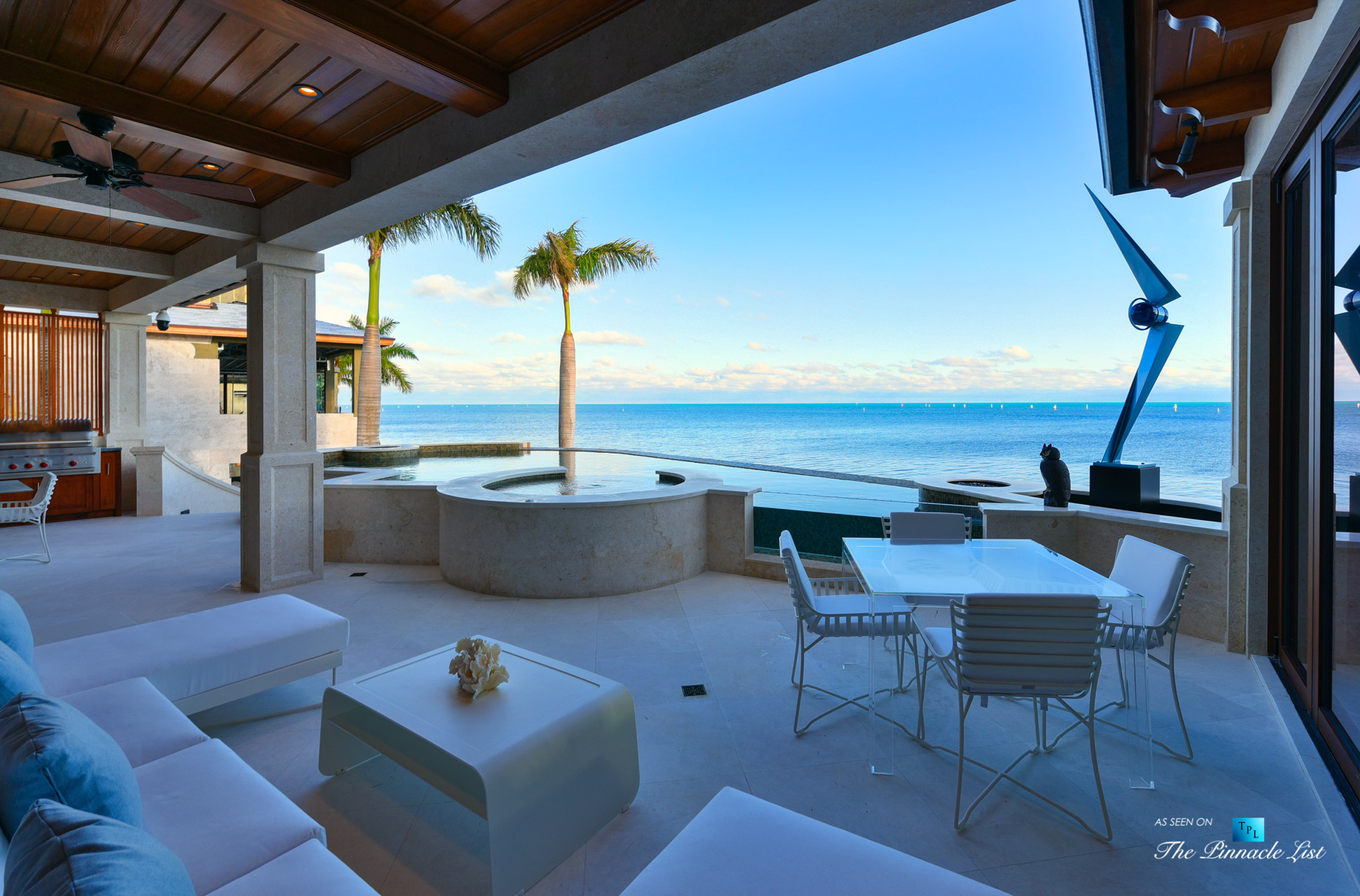 103 Andros Rd, Key Largo, FL, USA – Oceanfront Infinity Pool Deck and Hot Tub – Luxury Real Estate – Ocean Reef Club Home