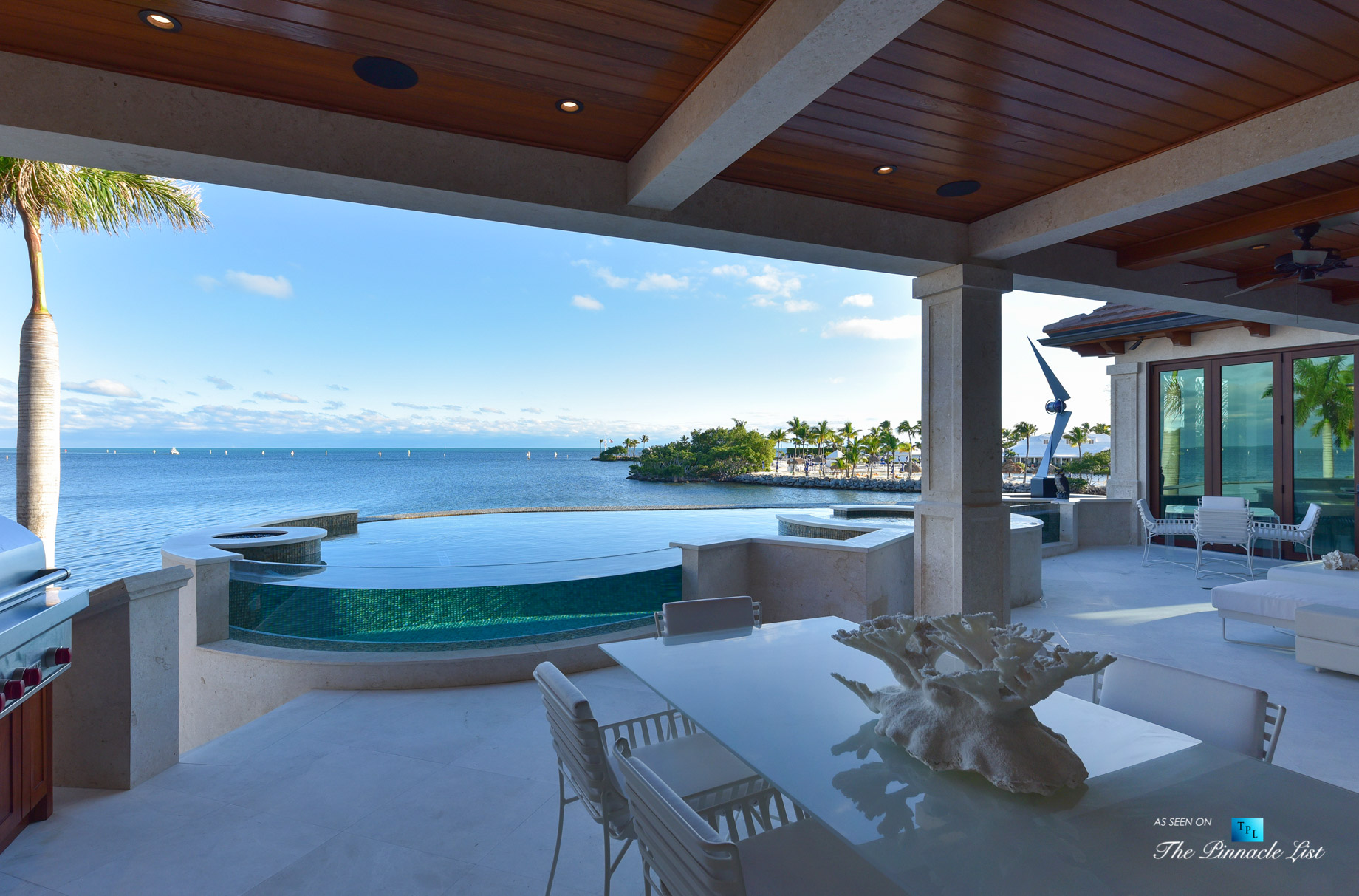 103 Andros Rd, Key Largo, FL, USA - Oceanfront Infinity Pool Deck and Hot Tub - Luxury Real Estate - Ocean Reef Club Home