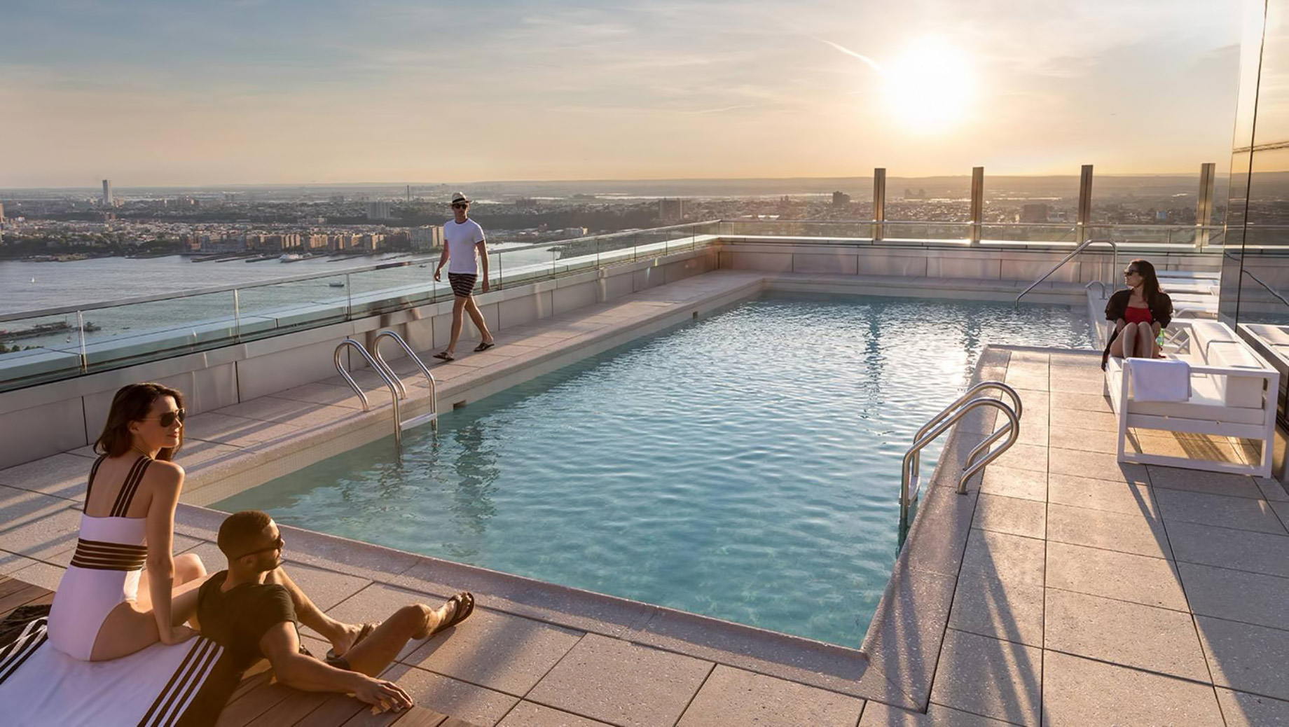 555TEN Rooftop Pool Deck - 555 10th Ave, New York, NY, USA