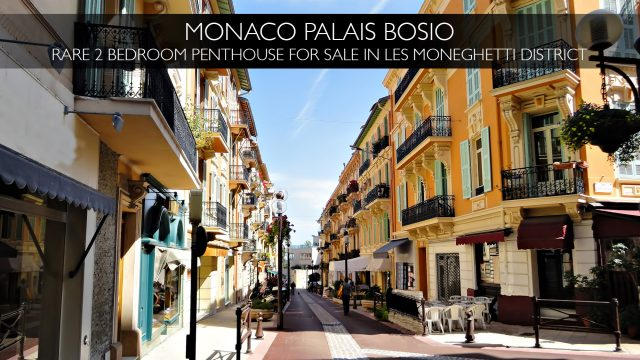 Monaco Palais Bosio - Rare 2 Bedroom Penthouse in Les Moneghetti District