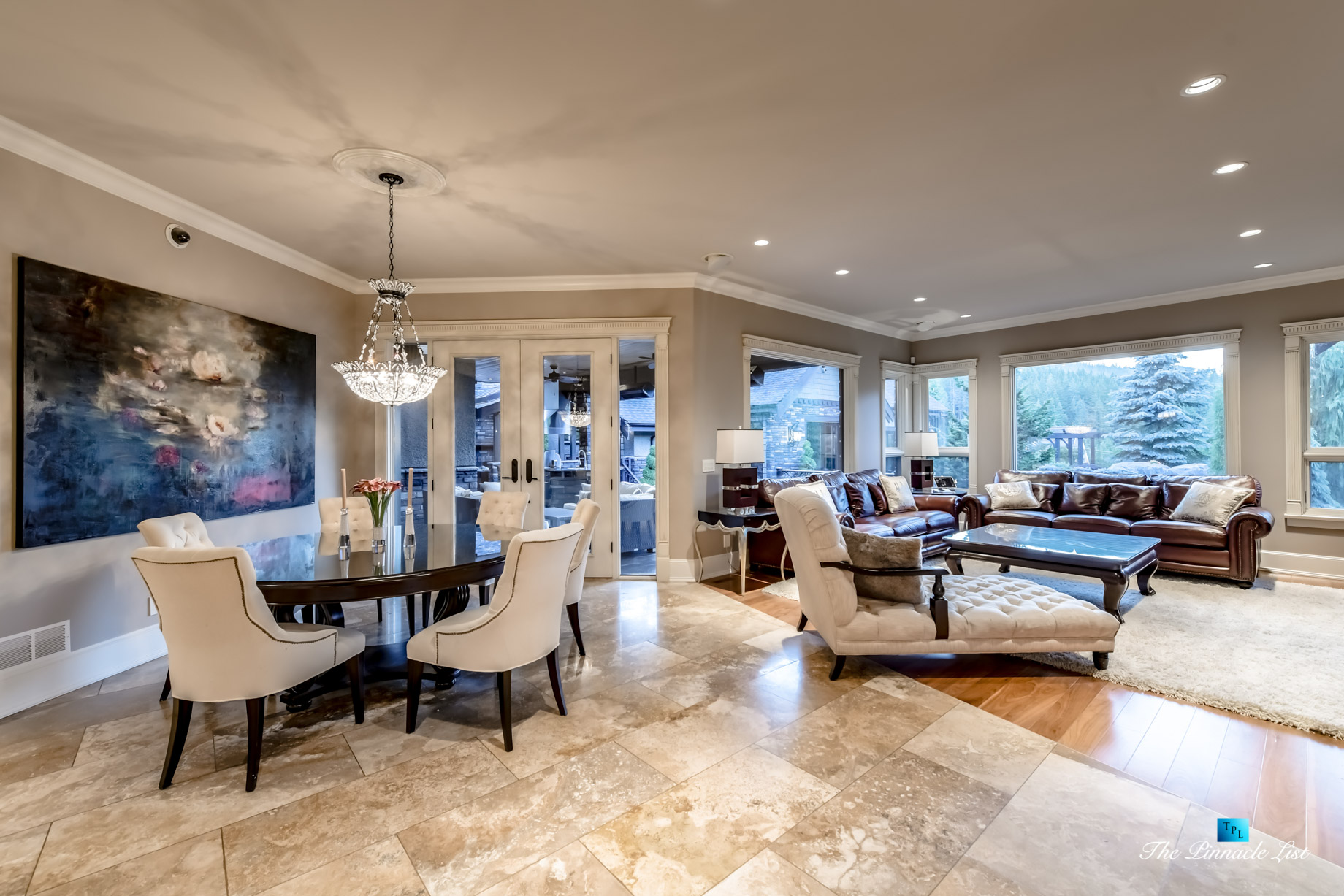3053 Anmore Creek Way, Anmore, BC, Canada - Kitchen Table and Family Room - Luxury Real Estate - Greater Vancouver Home