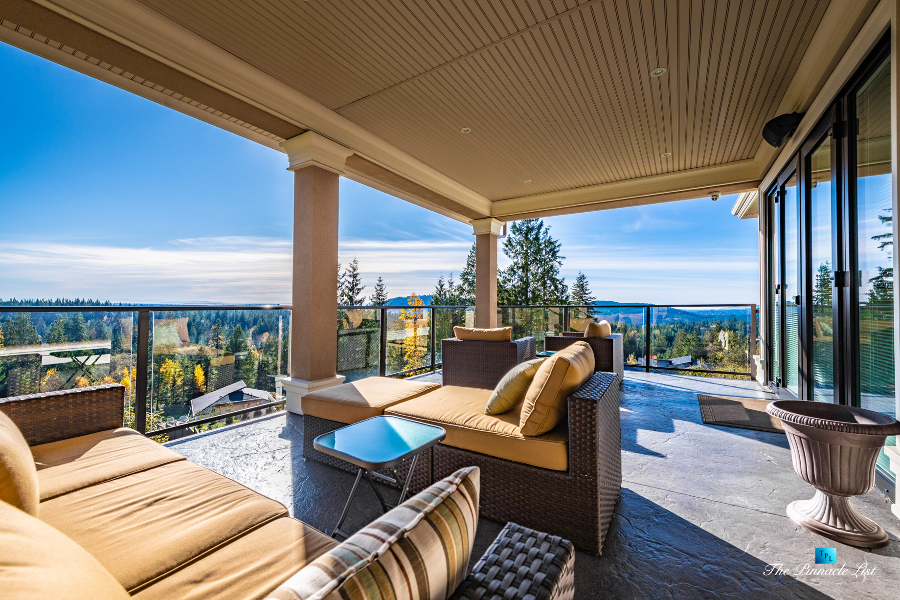 2057 Ridge Mountain Drive, Anmore, BC, Canada - Covered Private Deck View - Luxury Real Estate - West Coast Greater Vancouver Home