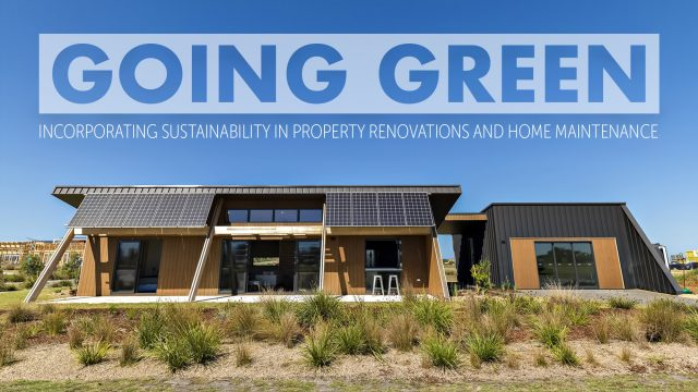 Going Green - Incorporating Sustainability in Property Renovations and Home Maintenance