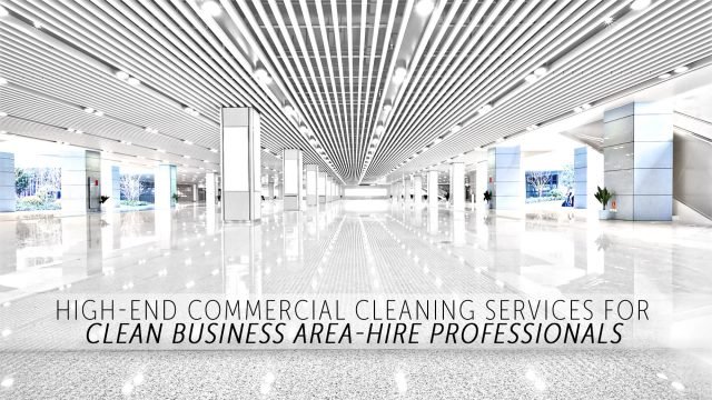 High-End Commercial Cleaning Services - For Clean Business Areas Hire Professionals
