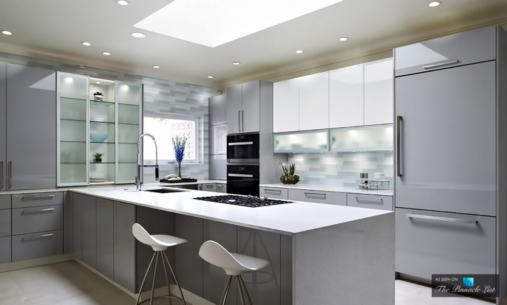 Stunningly Modern, High Gloss Kitchen Design in Norman, Oklahoma