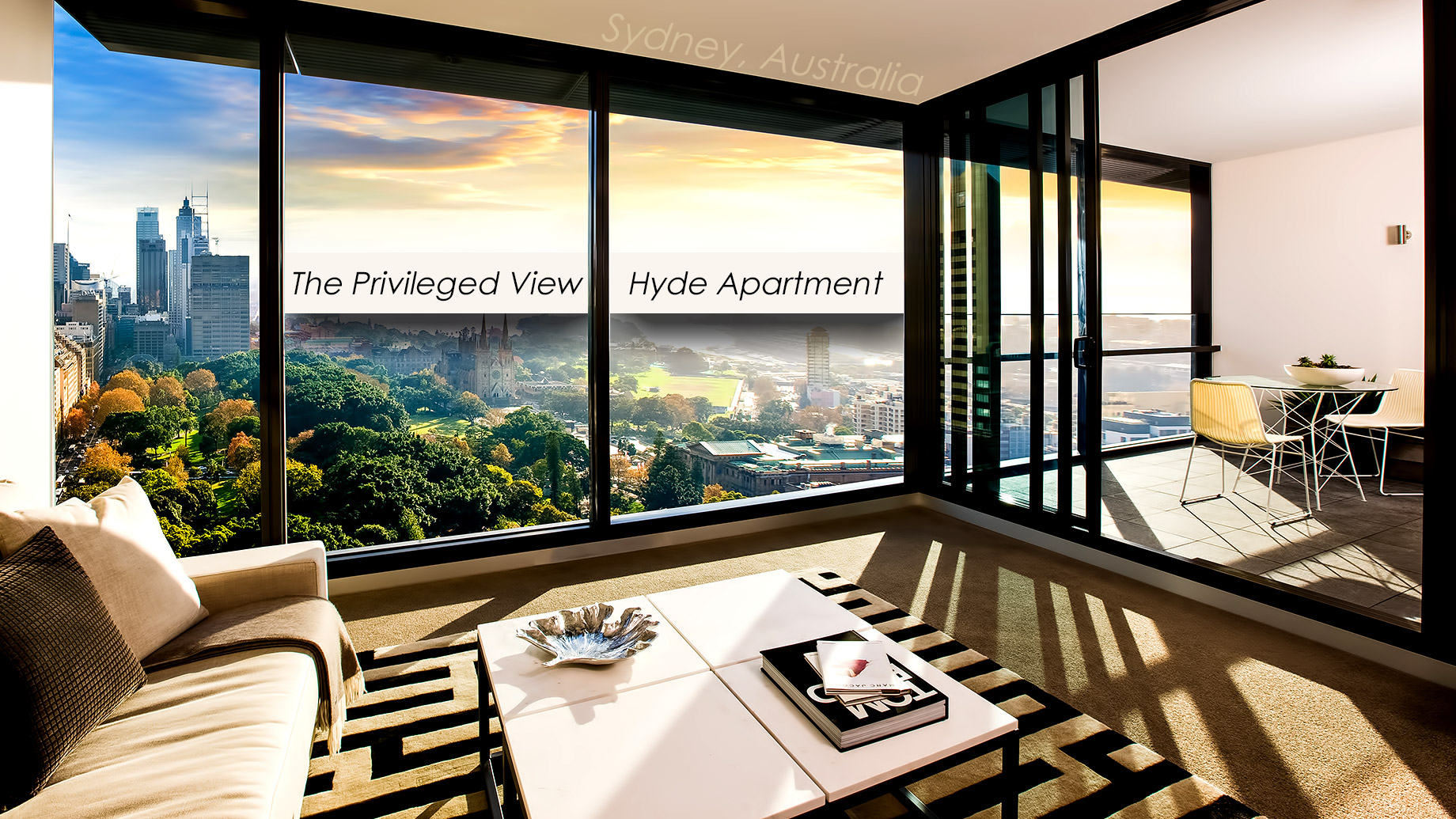 The Privileged View of the Luxury Hyde Apartment Building in Sydney, Australia