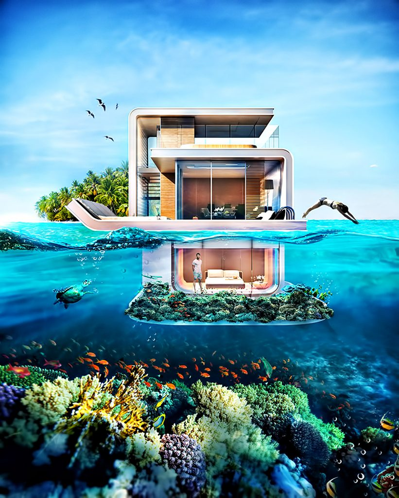 The Floating Seahorse - Luxury Home Concept Takes Life Underwater in Dubai