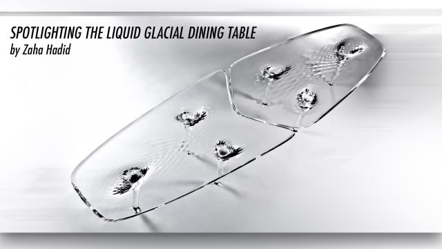 $250,000 Luxury Equilibrium - Spotlighting the Liquid Glacial Dining Table by Zaha Hadid
